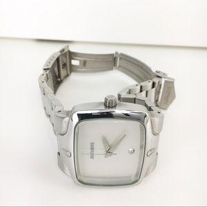 Nixon  watch real diamond pearl white